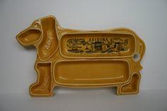 Vintage Souvenir Ceramic Hot Dog Tray by WingedPharaoh on Etsy, $19.97