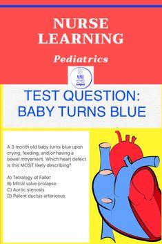 Patent Ductus Arteriosus, Mitral Valve Prolapse, Nursing Questions, Aortic Stenosis, Blue Med, New Nurse, Turn Blue, Nurse Stuff, Nclex