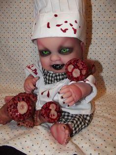 Reborn Creepy Evil Scary Zombie Baby Doll Odd Steam Punk