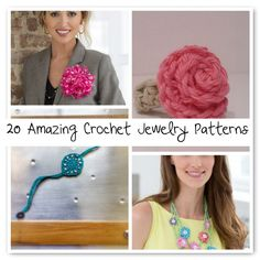Looking for a #crochet jewelry pattern? Here are twenty to choose from.