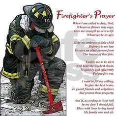 Firefighter Prayer Framed Tile by firedesigns