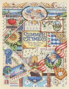 Summer Sampler - Cross Stitch Kit *This is the one I'm working on now! Almost done! (sort of)