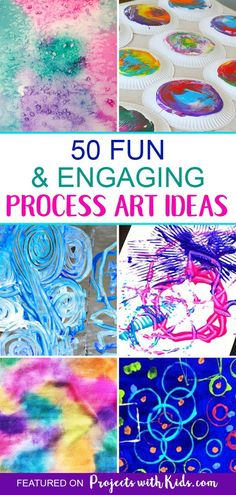 Fun & Engaging Process Art Projects for Kids - Susanne L. Fun & Engaging Process Art Projects for Kids - Susanne L. Family Art Projects, Summer Art Projects, Toddler Art Projects, Cool Art Projects, Children Art Projects, Fun Projects For Kids, Art Children, Process Art Preschool, Kindergarten Art Projects