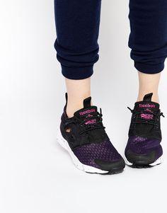 Reebok Fury Lite Black & Purple Trainers