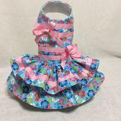 Pink And BlueTutti Frutti Dog Dress by LittlePawsBoutique on Etsy
