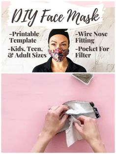 face mask with filter pocket pattern The safest DIY face mask with easy sewing pattern and sew along video. This sewing pattern with filter pocket walks you through each step to make the safest homemade face mask. Easy Sewing Patterns, Sewing Tutorials, Pattern Sewing, Free Printable Sewing Patterns, Stitching Patterns, Sewing Tips, Mascarilla Diy, Techniques Couture, Easy Face Masks