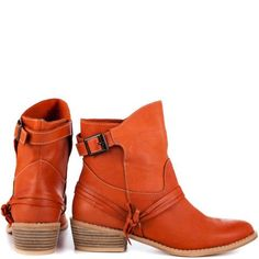 ☮ American Hippie Bohéme Boho Style ☮ Orange Boots