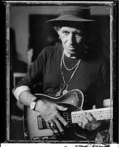 Keith Richards by Danny Clinch (Polaroid)