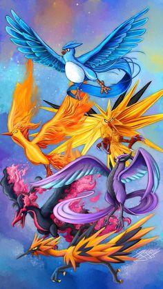Articuno, Zapdos, Moltres by mcgmark on DeviantArt Pokemon Backgrounds, Cool Pokemon Wallpapers, Cute Pokemon Wallpaper, Animes Wallpapers, Rayquaza Pokemon, Pokemon Manga, Pokemon Charizard, Pokemon Full, Pokemon Fusion Art