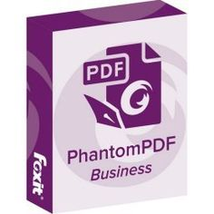 Foxit PhantomPDF Business Foxit PhantomPDF Business is a business ready PDF toolkit to create professional looking PDF documents and forms.