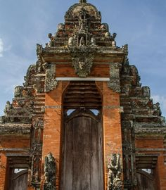 1000 years old stone temple in Bali