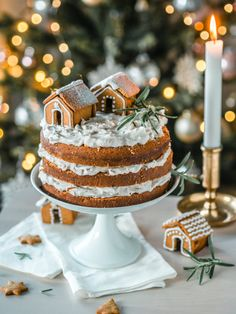 Ihana Piparkakku-kakku (M) Christmas Sweets, Noel Christmas, Christmas Baking, Modern Cakes, Communion Cakes, Most Delicious Recipe, Types Of Cakes, New Cake, Piece Of Cakes