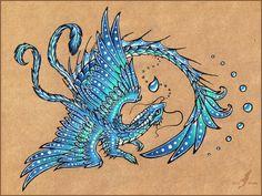 Water dragon - tattoo design by =AlviaAlcedo on deviantART