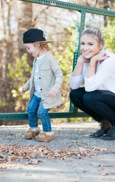 Great fashion blog by Cara Loren. She puts together outfits for her and her son and links all the clothing to the sites she bought them from.