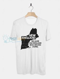 New England Unisex Adult T Shirt - Get 10% Off!!! - Use Coupon Code 'TEES10'
