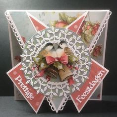Fancy Fold Cards, Folded Cards, Star Cards, Creative Cards, Card Templates, Origami, Birthday Cards, Christmas Cards, Projects To Try