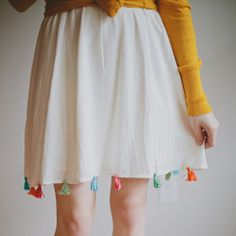 DIY Tassel Skirt by Vanilla and lace, via Flickr
