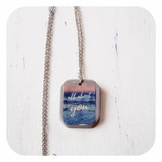 """Silberfarbene Halskette mit maritimen Betonanhänger """"All about you"""" About You, Dog Tags, Dog Tag Necklace, Pendant Necklace, Jewelry, Picture Composition, Neck Chain, Colors, Jewlery"""
