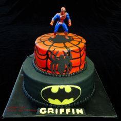 Classic super hero's cake