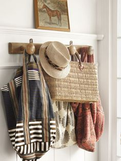 #countryliving #dreambedroom  ... A Coat rack behind the bedroom door will keep purses and accessories  organized...