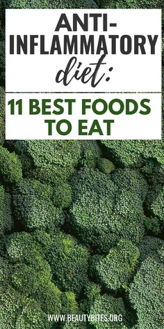 11 Best Anti-Inflammatory Foods On The Planet - Beauty Bites 11 best foods to eat on the anti-inflammatory diet! Reduce inflammation and improve your health by eating clean and including more anti-inflammatory foods into your meal plan. Anti Inflammatory Foods List, Anti Inflammatory Smoothie, Autoimmune Diet, Candida Diet, Gout Diet, Aip Diet, Low Fat Diets, Good Foods To Eat, Foods That Heal