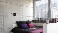 sypialnie betonowa ściana - Google Search