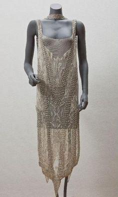 Dress, Callot Soeurs, 1922. Cotton, silk, glass, plastic.