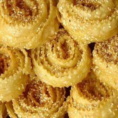 Kserotigana (aka Diples - fritters with honey and nuts) - iCookGreek Greek Sweets, Greek Desserts, Greek Recipes, Food Network Recipes, Food Processor Recipes, Cooking Recipes, Beignets, Cypriot Food, Eat Greek