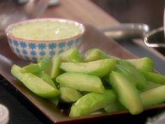 Mexican Squash with Yogurt Dip recipe from Marcela Valladolid via Food Network