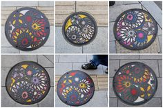 Intricate MANHOLE design..  only in Japan? Yes, I think so. Decorative Plates, Japan, Cover, Wall, Design, Home Decor, Decoration Home, Room Decor, Japanese Dishes