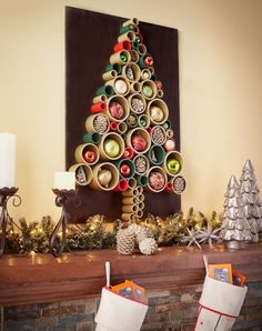 Get started on your PVC pipe Christmas tree. This colorful and creative holiday decoration is a fun DIY project. Here& the step-by-step tutorial. How To Make Christmas Tree, Unique Christmas Trees, Green Christmas, Beautiful Christmas, Diy Xmas, Christmas Holidays, Christmas Mantels, Christmas Decorations, Tree Decorations