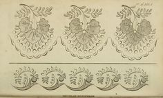 a collection of regency era needlework patterns