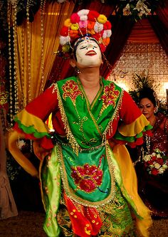 Topeng (mask) dance - west Java