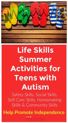 Life Skills Summer Activities for Teens with Autism – Learning For A Purpose – Brooke Grandberry – art therapy activities Group Activities For Teens, Social Skills Activities, Autism Activities, Art Therapy Activities, Autism Resources, Mutual Activities, Therapy Worksheets, Time Activities, Autism Learning