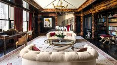The Living Room at Tommy Hilfiger's Plaza apartment, designed by Cindy Rinfret
