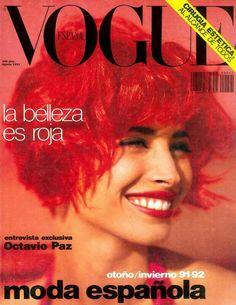 Christy Turlington by Sante D'Orazio for Vogue España August 1991
