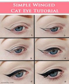 5 Simple to follow Beginner's Cat Eyes Tutorial. Its sure anyone could make it just like that after having a look at it.