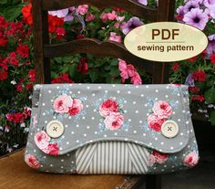 Sewing pattern to make this clutch/purse - I'm going to do it!