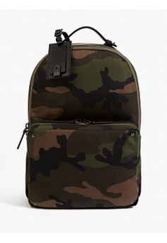Men's Camouflage Satin Canvas Backpack
