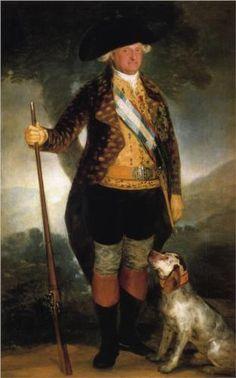 El rey Carlos IV en traje de caza  - Francisco de Goya