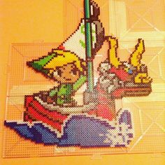 The Legend of Zelda: The Wind Waker perler beads by  caseylcarr