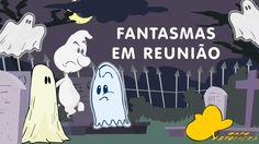 Desenho animado dublado em português para crianças: Reunião de fantasmas...
