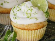 Key Lime Cupcake Recipe | Just A Pinch Recipes- I like the cream cheese frosting in this on