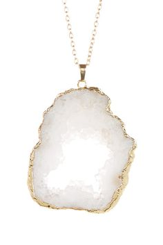 Crystal Druzy Geode Necklace