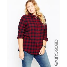 ASOS CURVE Boyfriend Shirt In Oversized Gingham ($38) ❤ liked on Polyvore featuring tops, multi, plus size, purple gingham shirt, plus size shirts, womens plus size shirts, plus size purple top and oversized tops