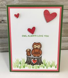 Crafting with Katherine: More Owl Love- Lawn Fawn