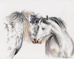 """""""Whispering, I love You"""" 8 x 10"""", watercolor on Ampersand Aquabord  $175"""