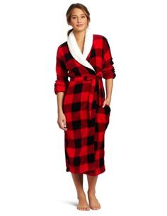 b22a58d142 Industries Needs — Dearfoams Women s Sherpa Shawl Printed Long Robe...  Sleepwear Women