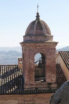 Offagna, Marche, Italy - Church of St. Tommaso, belfry campaniel -by Gianni Del Bufalo
