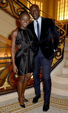 Art attack: Lupita Nyong'o and designer Ozwald Boateng attended the Sindika Dokolo Art Foundation dinner at London's Cafe Royal on Saturday night My Black Is Beautiful, Black Love, African Beauty, African Fashion, Ozwald Boateng, Afro, Black Sistas, Photo Couple, Inspiration Mode